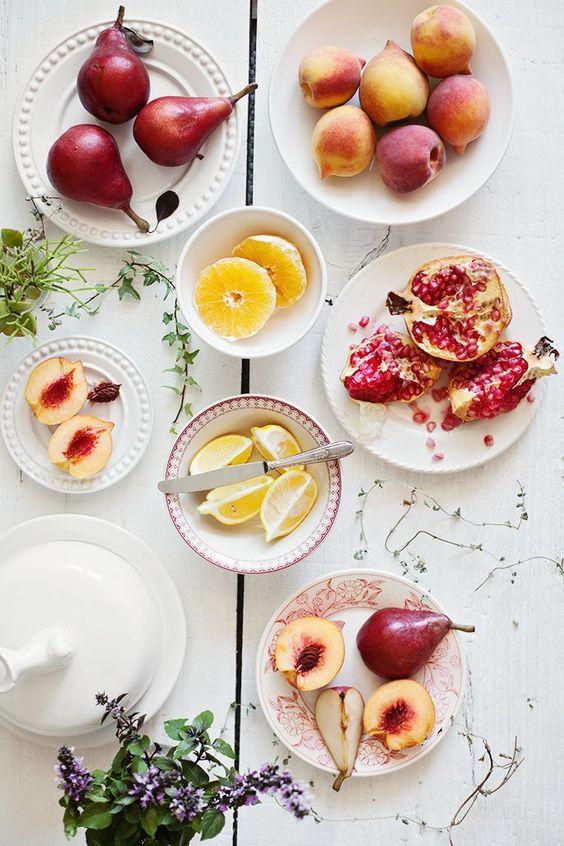 Adoro as combinações de cores nas fotos de comida