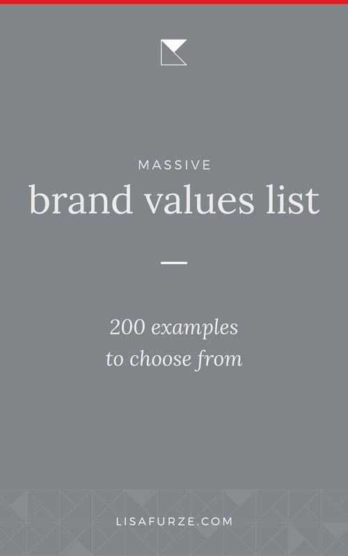 List Of 200 Examples Of Brand Values To Get You Started Branding Your Business Business Branding Values List