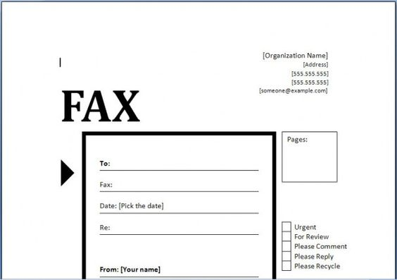 Fax Cover Sheet Resume Template -    wwwresumecareerinfo fax - fax template in word