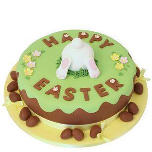 Easter Burrowing Bunny Cake