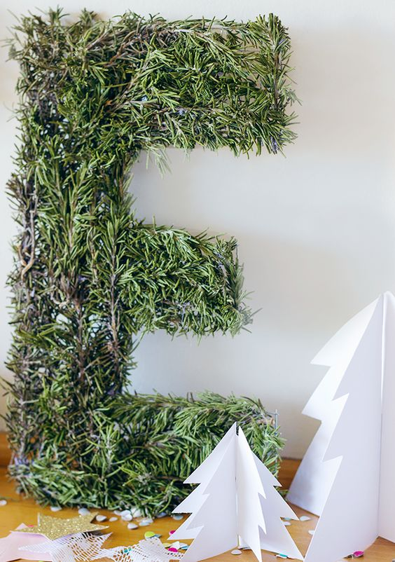 Simply Earnest: DIY Rosemary Letters