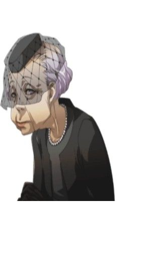 "Hisano, the old woman who is the Death social link of P4. Her husband lost his memories from old age and died, and she simply can't deal with the fact he couldn't remember her and now he's gone. She actually tells you, ""I am Death"" and believes it."