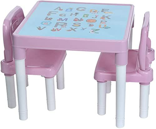 New Lcyus Children S Study Table Set Plastic Kids Table 2 Chairs Set Boys Girls Toddler Pink Online Shopping Kid Table Kids Table Chairs Plastic Tables