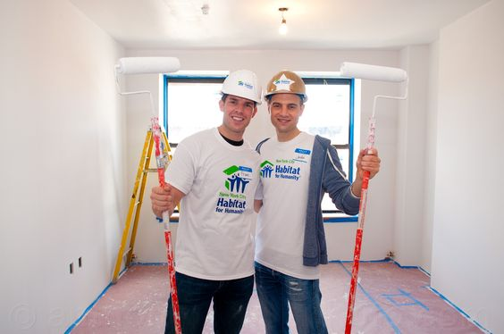 Frank DiLella and Jordan Roth at Habitat NYC's Broadway Builds Event #HabitatNYC #BroadwayBuilds Learn more about Habitat NYC at Habitatnyc.org