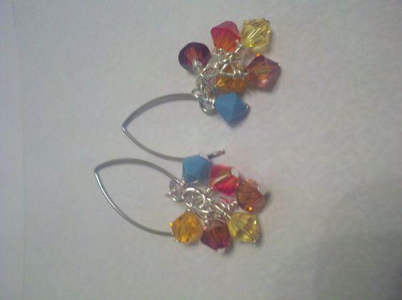 Sonoran Sunrise Earrings Multi Colored Earrings by ShiningCrystals, $8.50