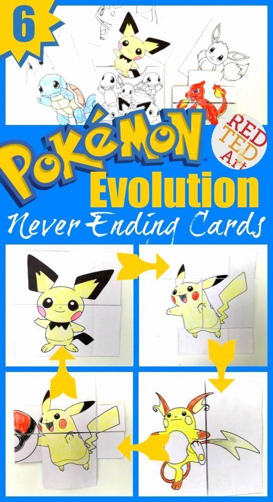 Never Ending Card Template Luxury Pokemon Evolution Cards Printables Printable Pokemon Diy Pokemon Craft Diy Pokemon Crafts