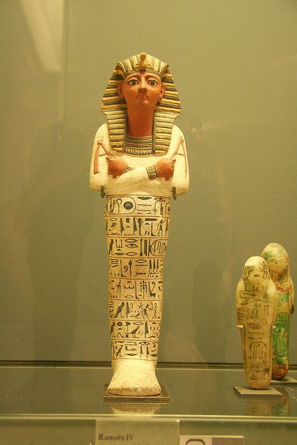 Ramses IV, 1153-1147 v Chr. 20ste dynastie, geverfd hout