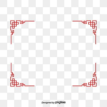 Red Chinese Border Frame Decoration Red Clipart Chinese Knot Chinese Style Png Transparent Clipart Image And Psd File For Free Download Frame Border Design New Year Clipart Clip Art Vintage