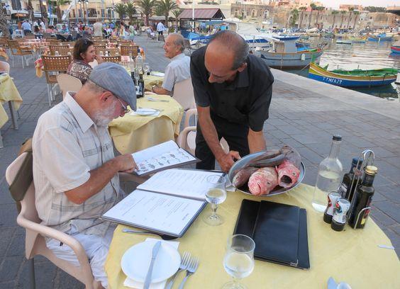 Marsaxlokk, melhor lugar para comer peixe em Malta