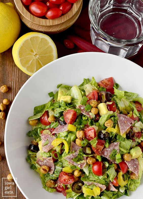 Italian Sub Salad   Iowa Girl Eats   Bloglovin'