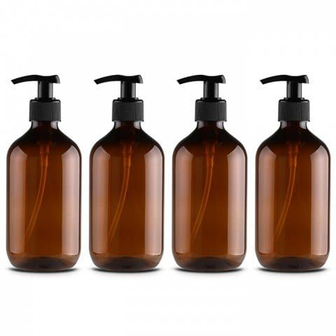 Shampoo Bottle Shower Gel Bottle Hand Sanitizer Bottle 4pcs
