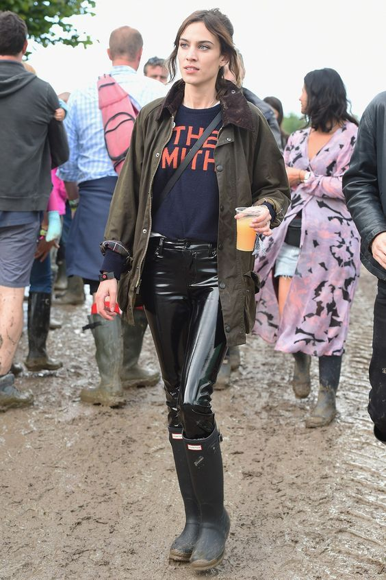 Alexa Chung, the queen of festival dressing.
