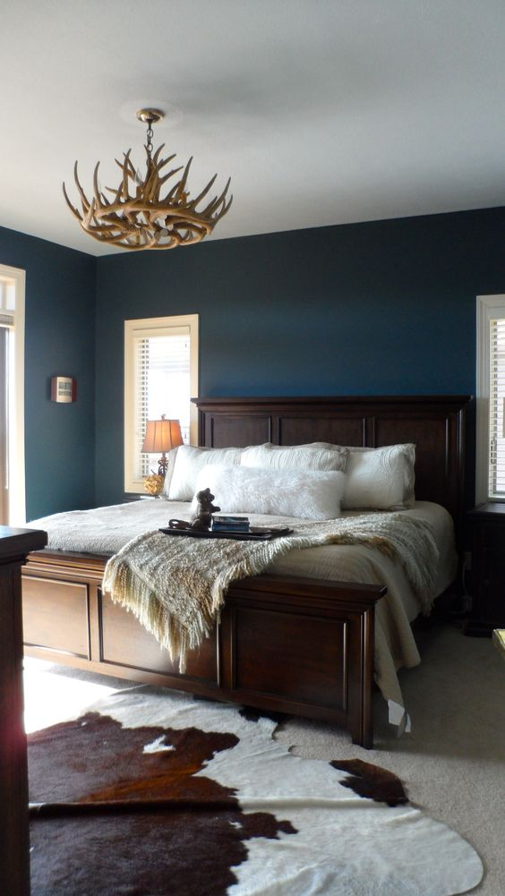 rustic bedroom wall paint color ideas | This is alright, it's a rustic - contemporary looking bed ...