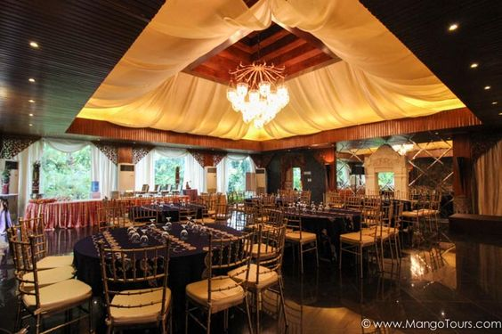 This grand-looking Tresna Pavilion is fit for a swanky party or event.