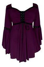 Plus Size Purple Gothic Renaissance Medieval Ophelia Corset Top 1X 2X 3X 4X 5X