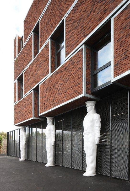Org Architecture Brakel Police Station Domus In 2021 Police Station Architecture Police