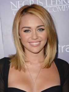 Fantastic Miley Cyrus Smooth Bob Hairstyle Hair And Make Up Pinterest Short Hairstyles For Black Women Fulllsitofus