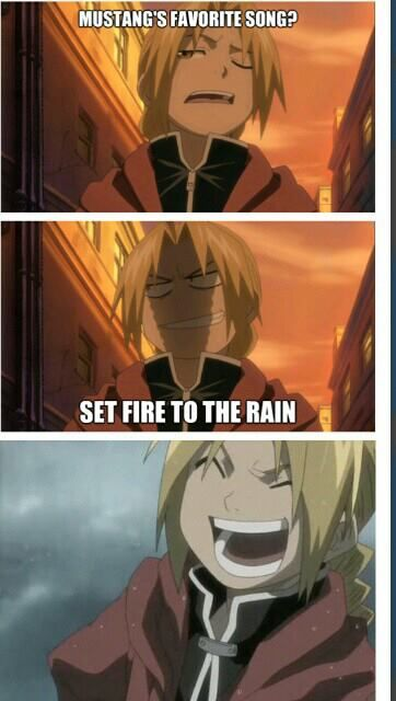 """""""IT'S FUNNY BECAUSE HE CAN'T!!!"""" Fullmetal Alchemist. Edward Elric. Roy Mustang. OMG ed ur so evil!!"""