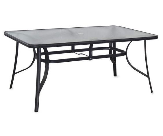 Dining Table Big Lots: Rectangular Glass Dining Table