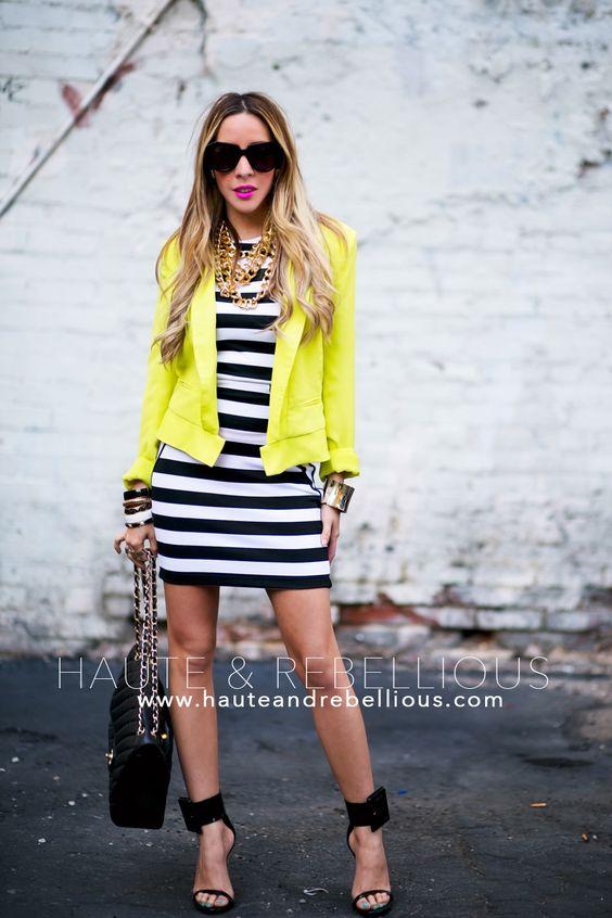 Haute And Rebellious Blog Black And White And A Pop Of