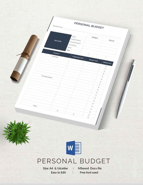 Personal Budget Template 15+ Free Budget Templates Pinterest - personal budget template