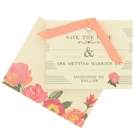 Roses wedding save the date cards - box of 10 - Wedding Invitations - Wedding - Stationery
