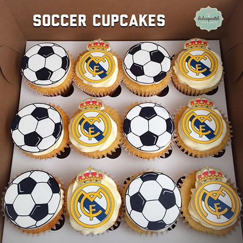 Cupcakes Real Madrid By Giovanna Carrillo Con Imagenes