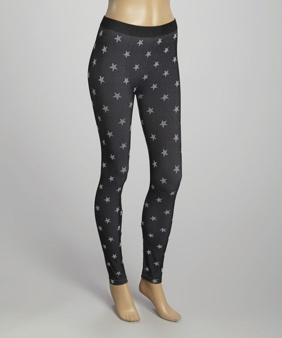 Look at this Poof! Black Star Leggings on #zulily today!