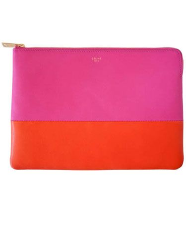 """Kristina O'Neill, Executive Editor  Great Find:    """"A little Céline goes a long way to making a look instantly chic. This colorful pouch is the perfect way to add color to spring.""""    Céline pouch, celine.com for stores."""