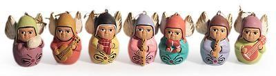 Ceramic ornaments, 'Angel Choir' (set of 7) by NOVICA. ALberto Aparicio