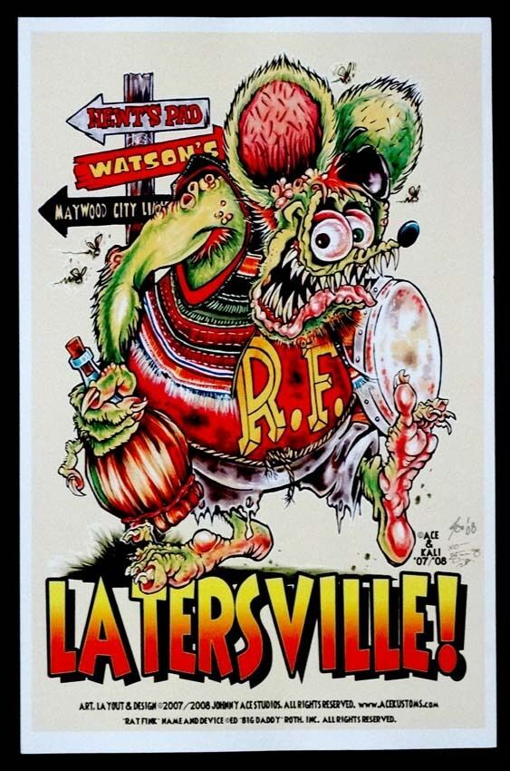 If I Gotta explain You Wouldn/'t Understand Rat Fink Big Daddy Ed Roth Metal Sign