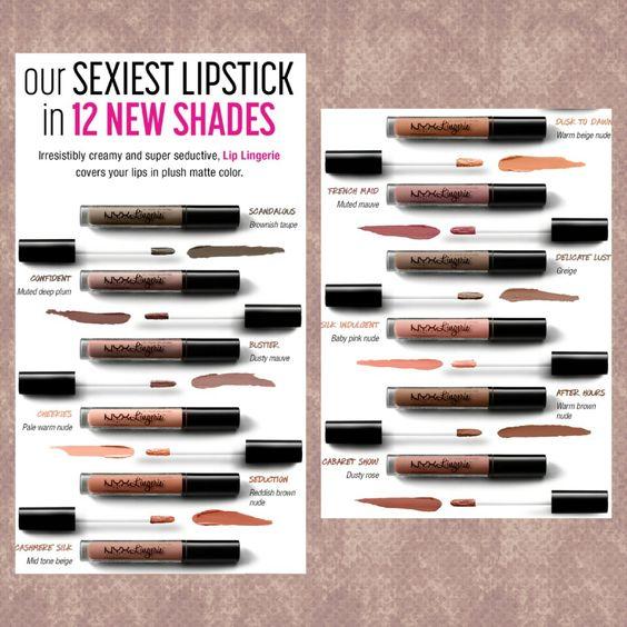 12 New Shades of NYX Lip Lingerie @nyxcosmetics: