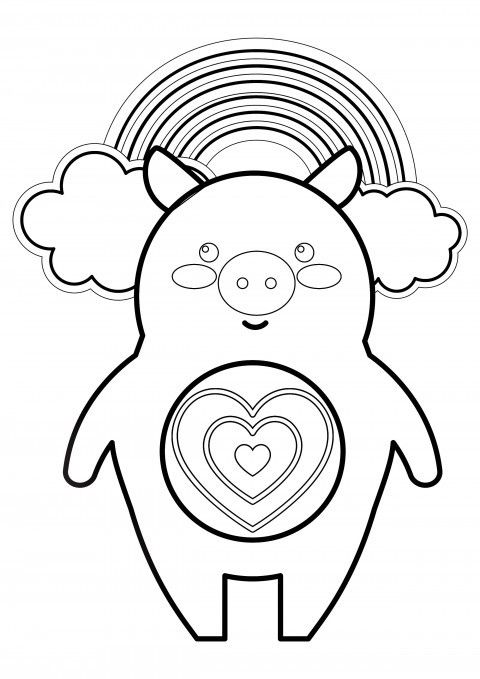 Cute Piggy Coloring Page #pigcoloring #cutepig #coloringpage ...