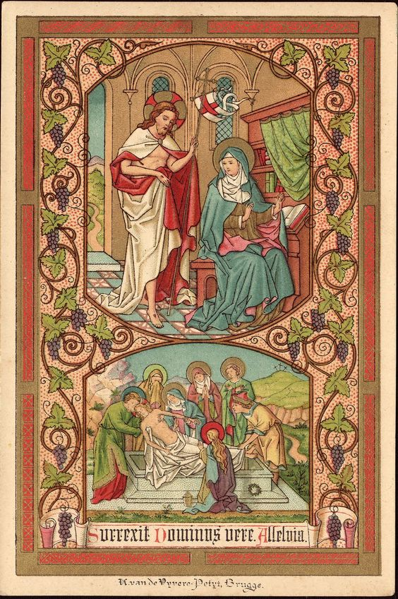 Easter holy card