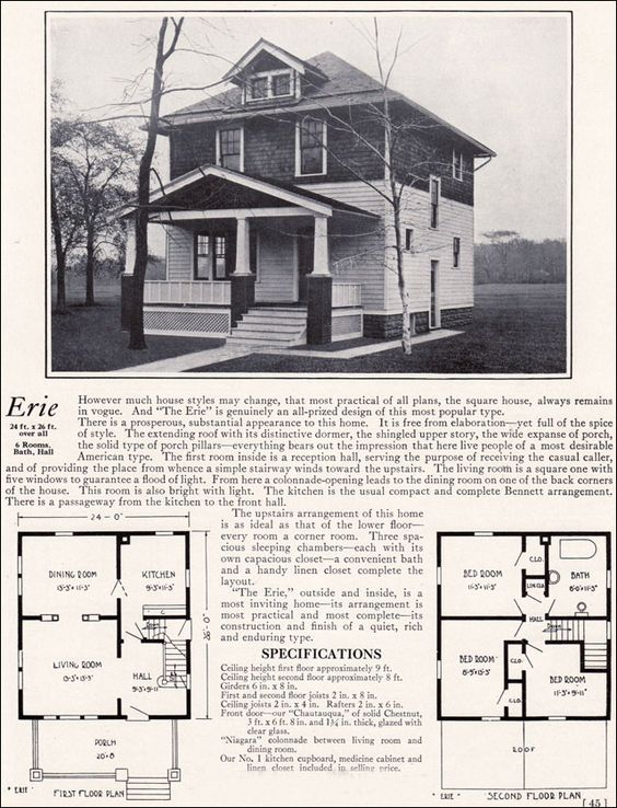 Pin By Vladimir Nagornyy On Proekt House Four Square Homes Square House Plans Vintage House Plans