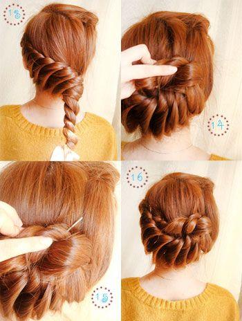 Prime Beautiful Updo And Twist Updo On Pinterest Short Hairstyles Gunalazisus