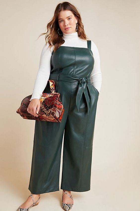 Slide View: 5: Samira Faux Leather Jumpsuit