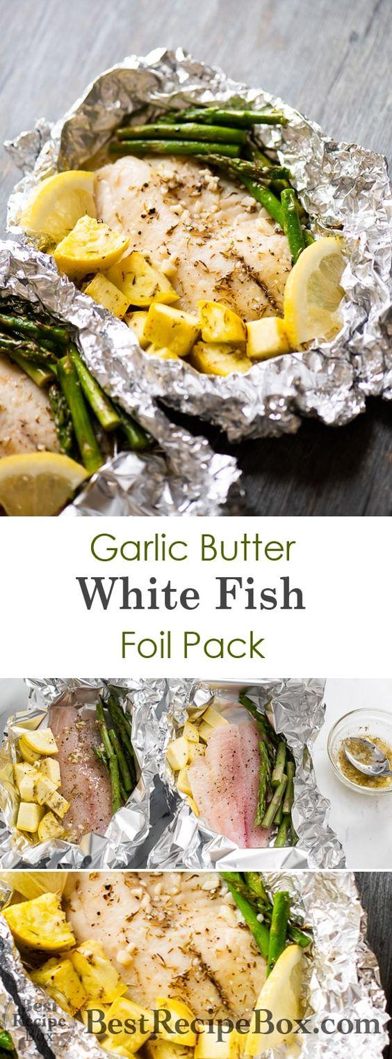 Foil Baked Garlic Butter White Fish (Tilapia)