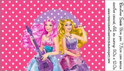 Imprimibles Barbie Princesa y Pop Star 4.   Ideas y material gratis para fiestas y celebraciones Oh My Fiesta!