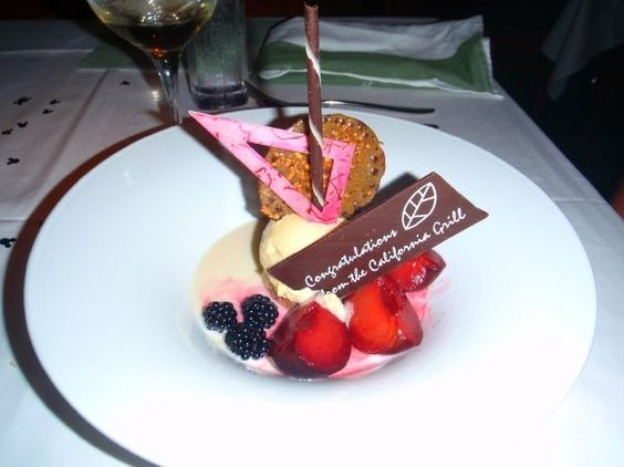 Dessert at the California Grill at Walt Disney World.