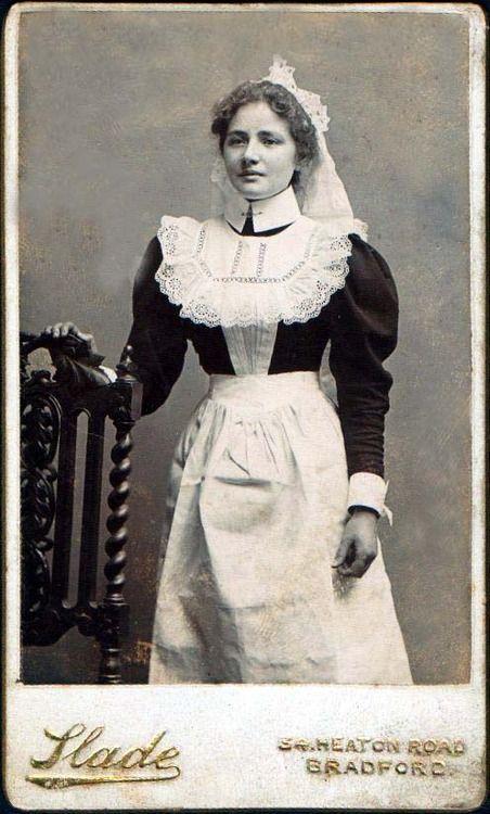 A lovely Edwardian housemaid. #vintage #1900s #portraits