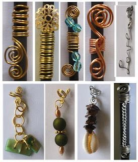Aziza by Lockology - ornaments for locks.  Can also be used on braids and twists.