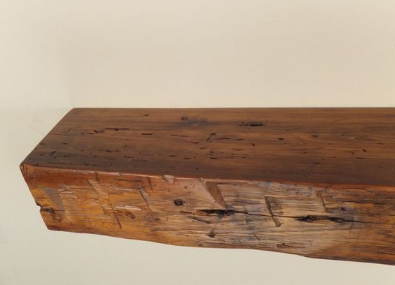 978 48 X X 5 H Reclaimed Floating Wood Shelf Fireplace Mantel Solid Pine