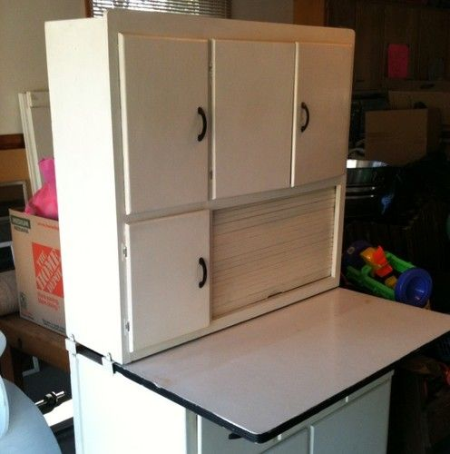 Restore Kitchen Cabinets: ANTIQUE VINTAGE HOOSIER KITCHEN CABINET CUPBOARD