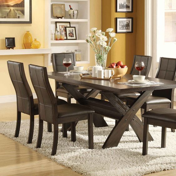 Divine Xenia 7 piece dining set costco | dining table ideas ...