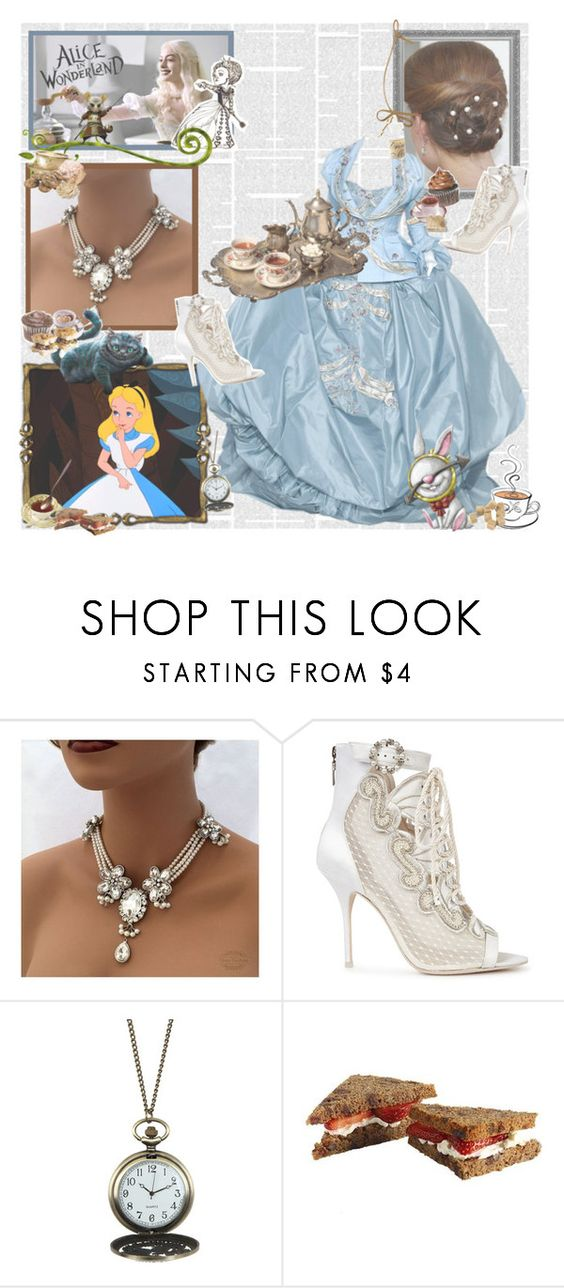 """Alice in Wonderland"" by ac-awesome ❤ liked on Polyvore featuring Alice by Temperley, Burton, Sophia Webster, Disney, contestentry and DisneyAlice"