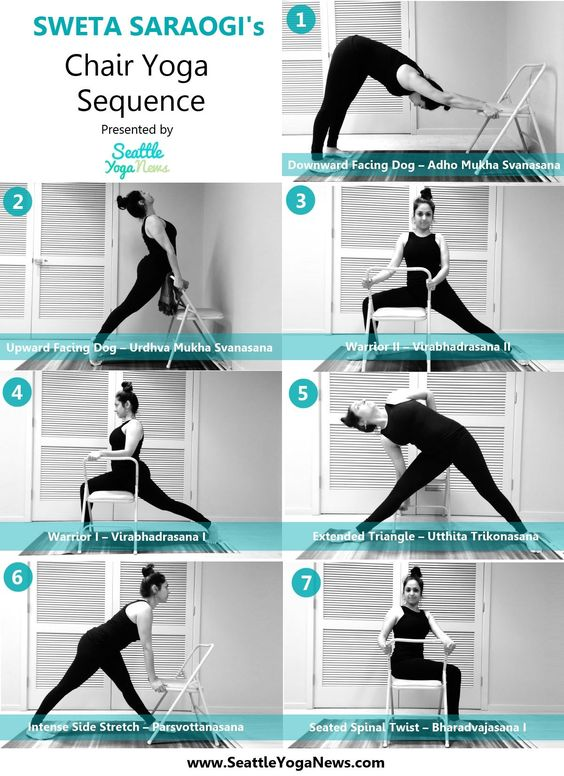Chair Yoga poses sequence by Sweta Saraogi More details