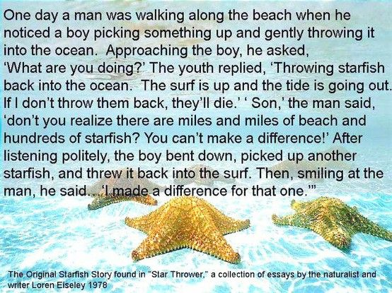 Starfish quotes starfish story and more starfish bookmarks poem