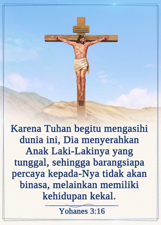 Yohanes 3 16 Ayat Alkitab Alkitab Tuhan
