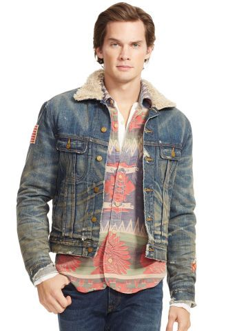 Faux-Shearling Denim Jacket - Polo Ralph Lauren Lightweight \u0026amp; Quilted - RalphLauren.com